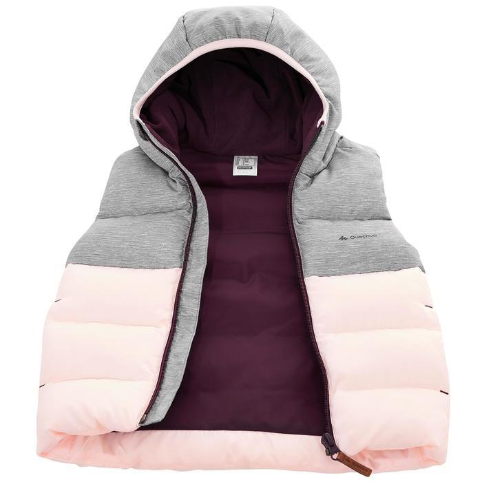 Gilet doudoune de randonnée enfant X-Warm gris rose