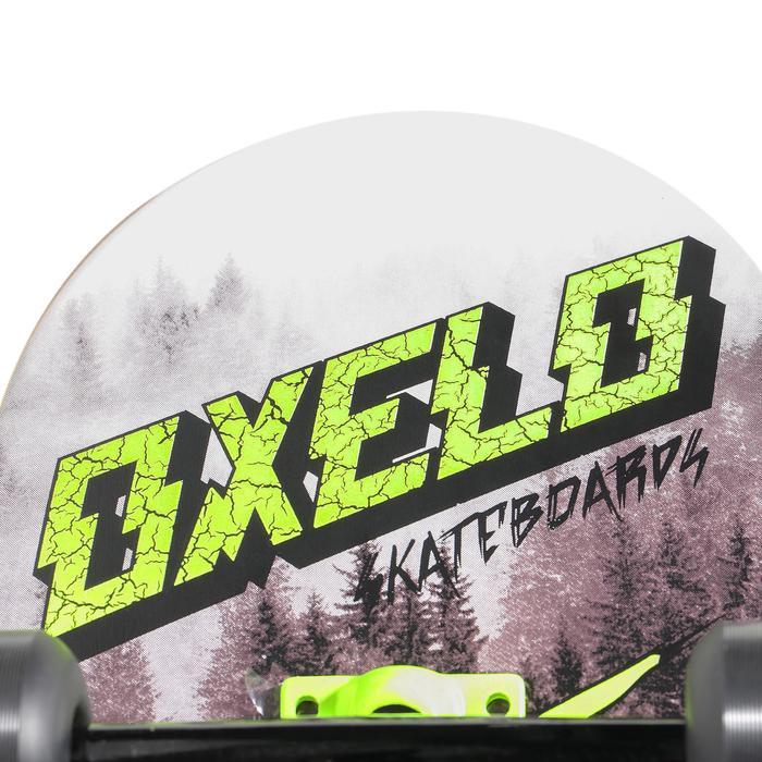 Tabla Skate OXELO MID 500 WOLF Niños Blanco/Verde