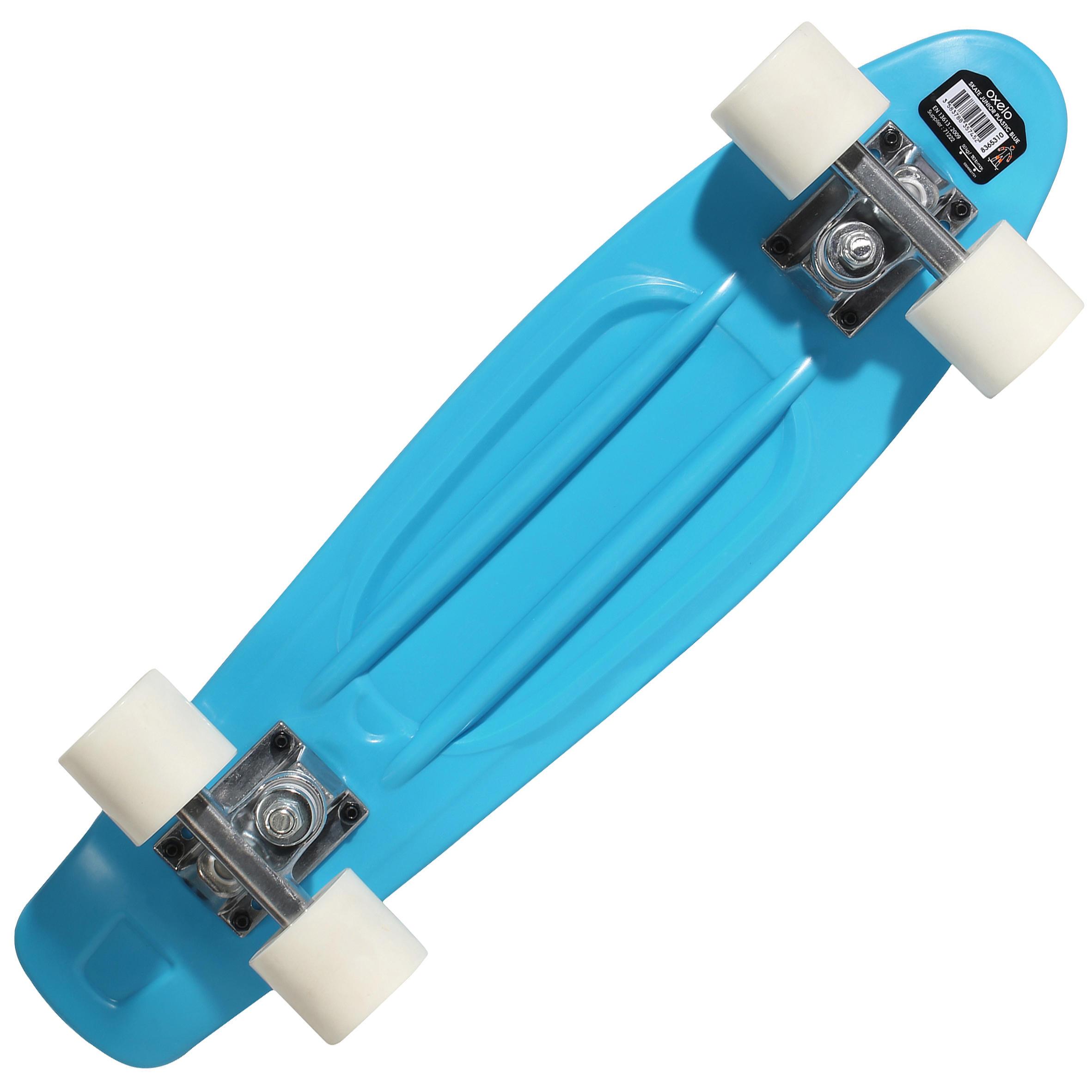 KIDS MINI SKATEBOARD JUNIOR PLASTIC BLUE