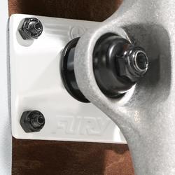 Tabla Skate OXELO TEAM500 Fury paranoid Adulto Verde/Blanco/Marrón