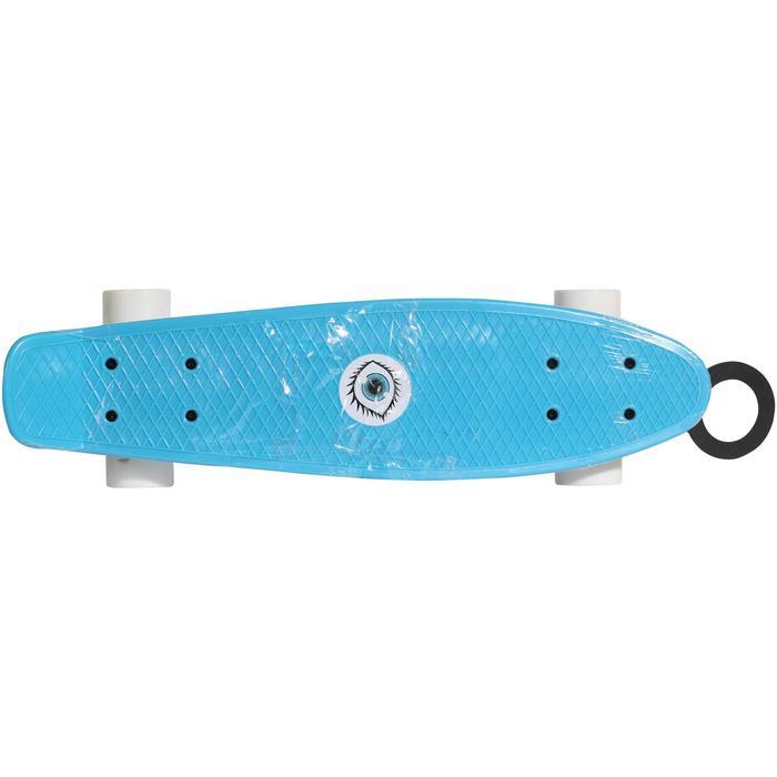 Plastic miniskateboard voor kinderen blauw