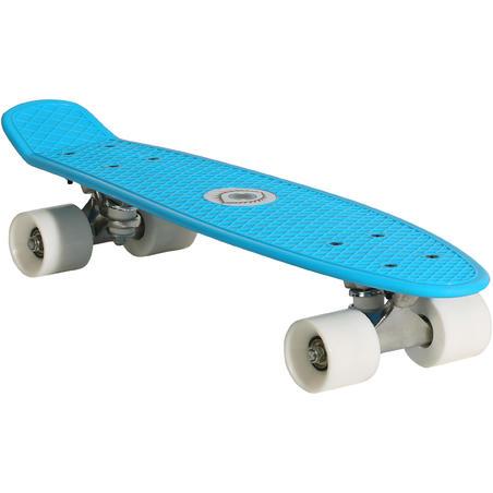 Mini skateboard niños PLÁSTICO azul