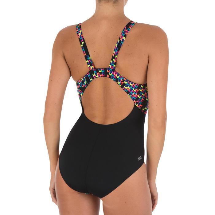 Maillot de bain de natation une pièce femme résistant au chlore Kamiye Jely noir