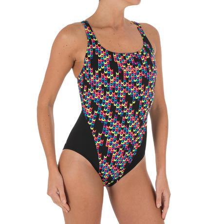 9342d0db28 Kamiye Women s One-Piece Chlorine-Resistant Swimsuit - Jely Black ...