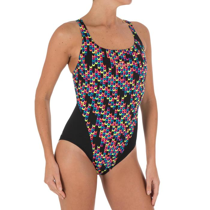 Bañador de natación una pieza mujer resistente al cloro Kamiye Jely Negro