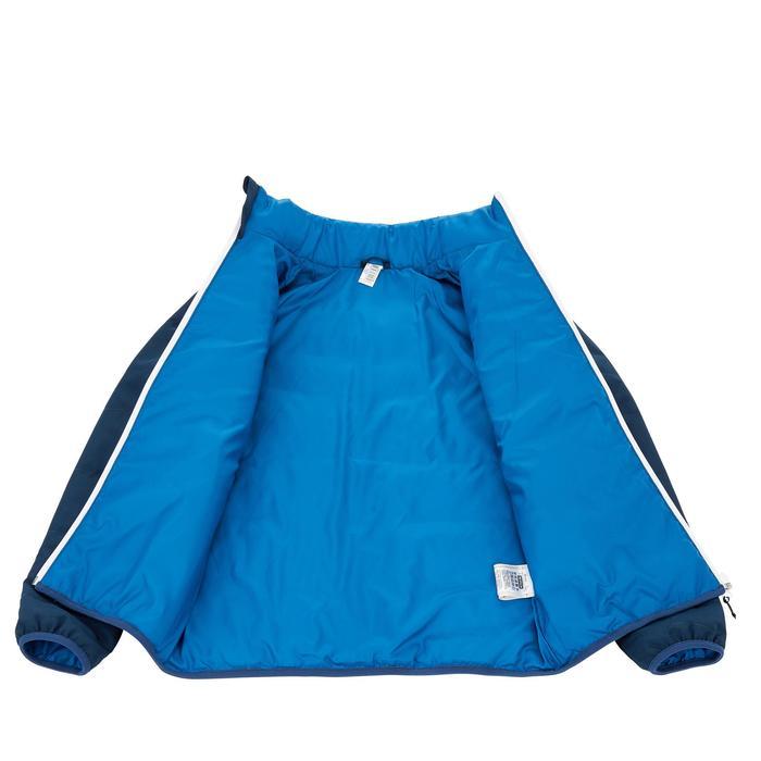 Gewatteerde jongensjas voor trekking Hike 100 marineblauw