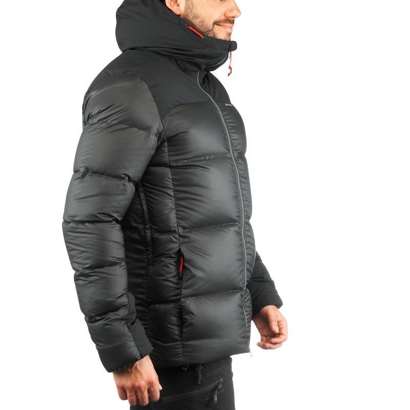 Trek 900 Warm Men's Mountain Trekking Down Jacket - Black