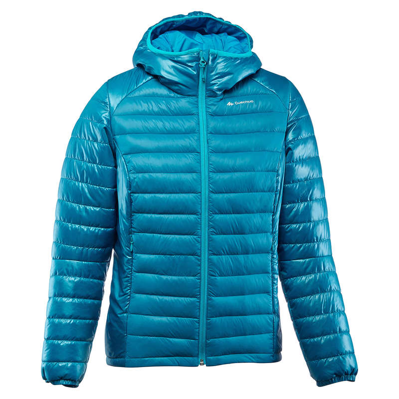 WOMEN DOWN JACKET, VEST MOUNTAIN TREK Trekking - X-Light Women's Down Jacket - Blue FORCLAZ - Trekking