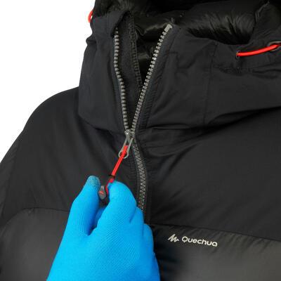 מעיל פוך חם לגברים TREK 900 לטרקים בהרים - שחור