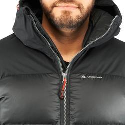 Chaqueta de Plumas Acolchada de Montaña y Trekking Top-warm Hombre Negro