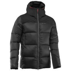 男款登山健行保暖羽絨外套Trek 900-黑色