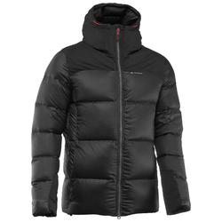 Men's black TREK 900 WARM mountain TREKKING down jacket