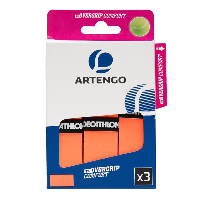 Griffband TA 730 Komfort Tennisschläger Overgrip 3er-Pack orange