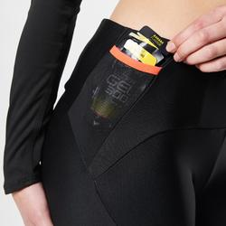 Women's Trail Running Tights black orange