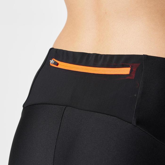 Laufhose Tights Trail Damen schwarz/orange