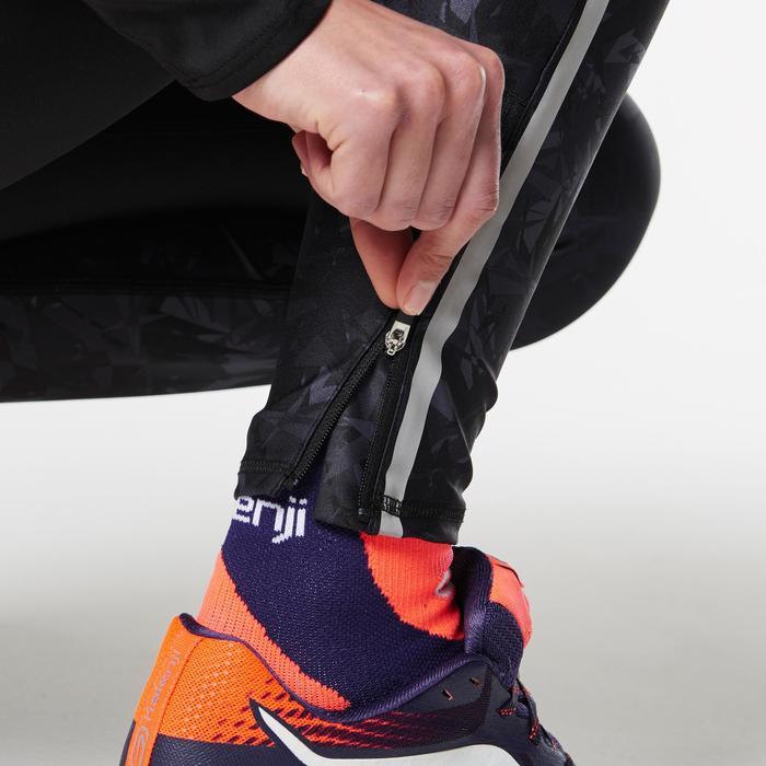 Trailrunning tight voor dames zwart oranje