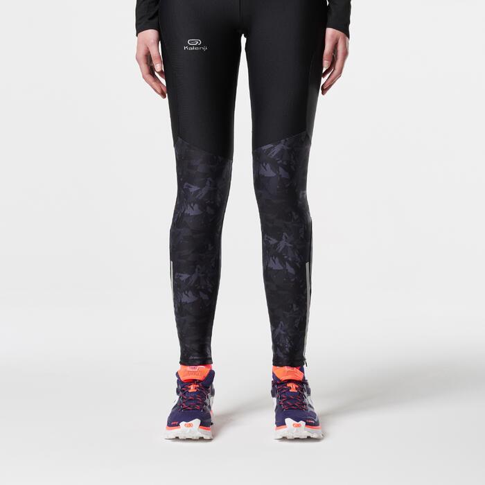 Dameslegging voor traillopen zwart oranje