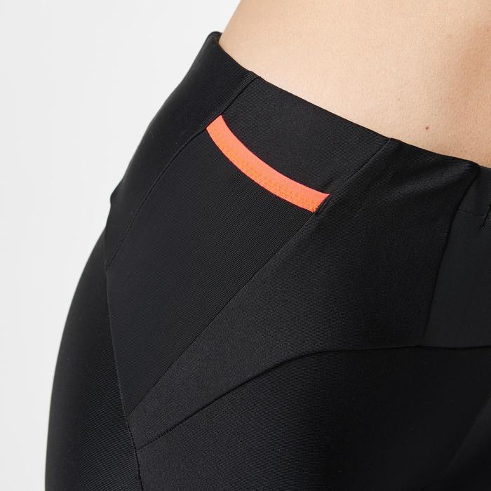 Collant trail running femme noir orange