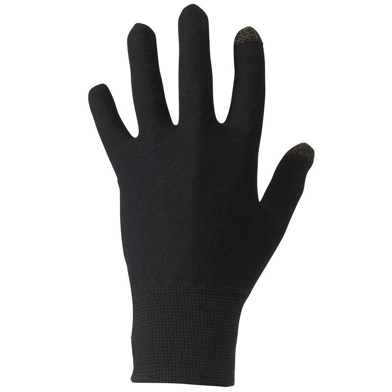 Forclaz Touch Adult Touchscreen Hiking Liner Gloves - Hitam