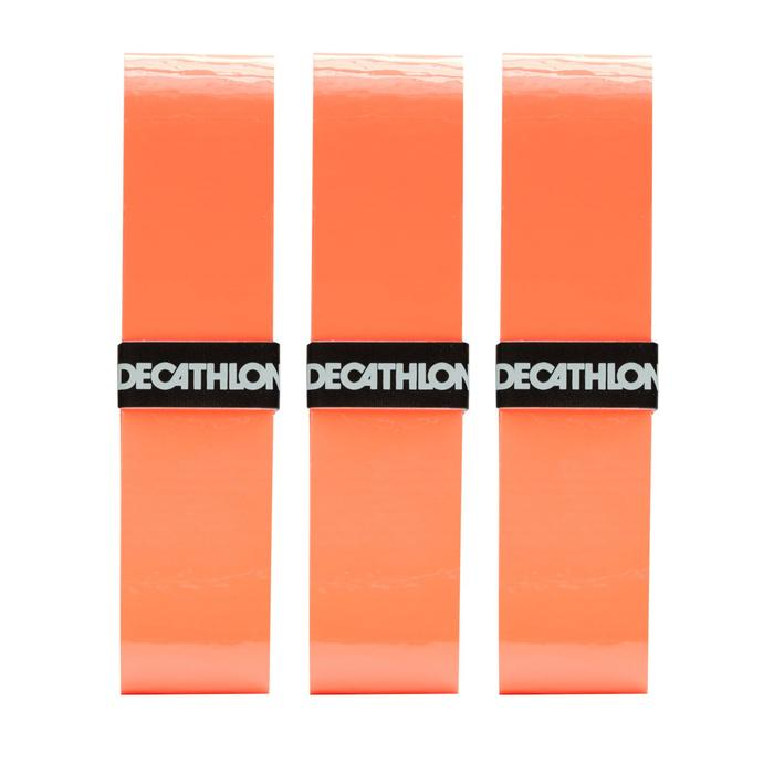 3入網球拍舒適外層握把布-橘色