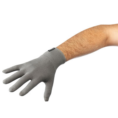Forclaz Touch Adult Tactile Hiking Liner Gloves - Dark Grey