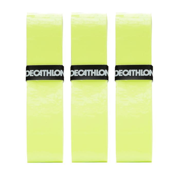 3入網球舒適外層握把布-黃色