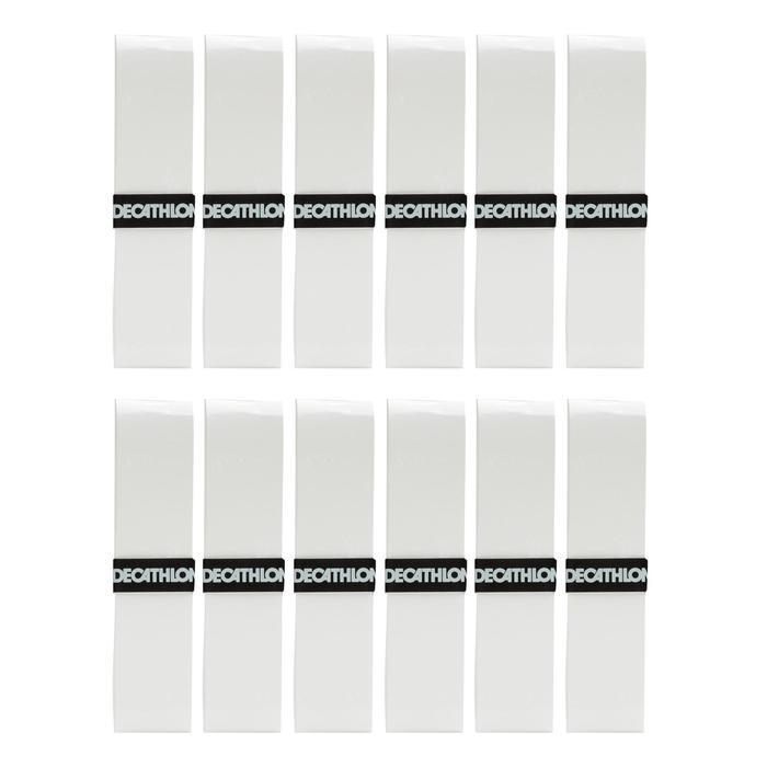Griffband Comfort Tennisschläger Overgrip 12er Pack weiß