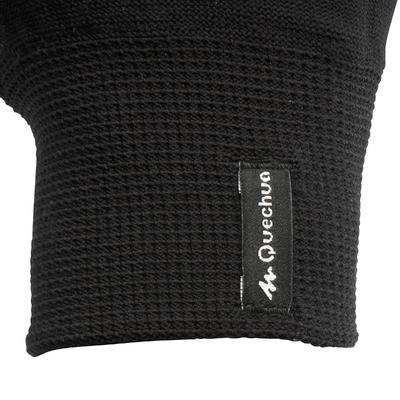 Forclaz Touch Adult Touchscreen Hiking Liner Gloves - Black