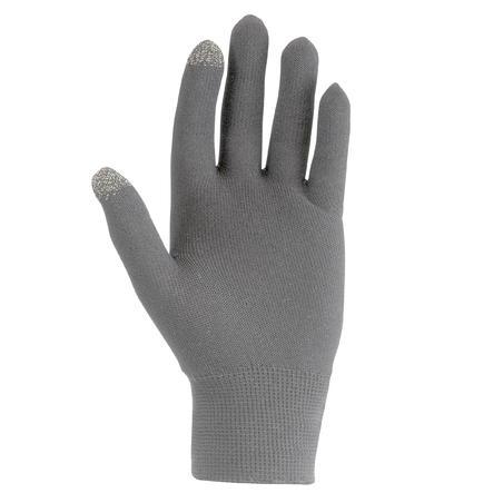 Forclaz Touch Adult Tactile Hiking Liner Gloves - Dark Grey