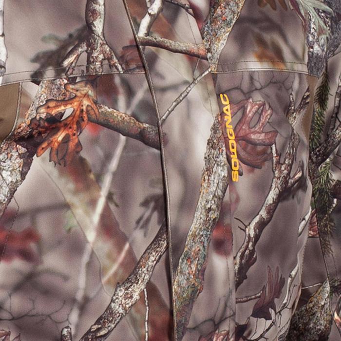 Warme regenparka voor de jacht 500 Actikam camouflage - 1017921