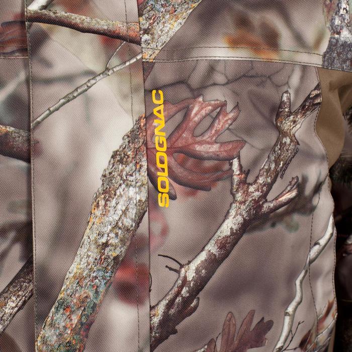 Warme regenparka voor de jacht 500 Actikam camouflage - 1017922