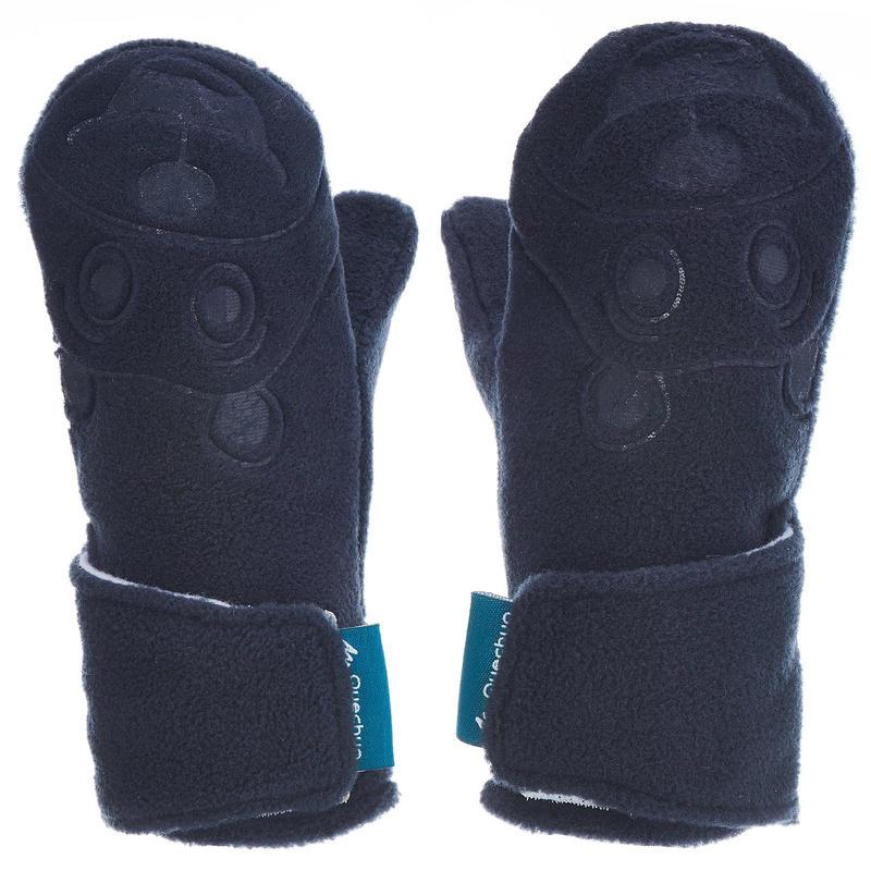 Mitones polares de senderismo niños SH100 warm azul