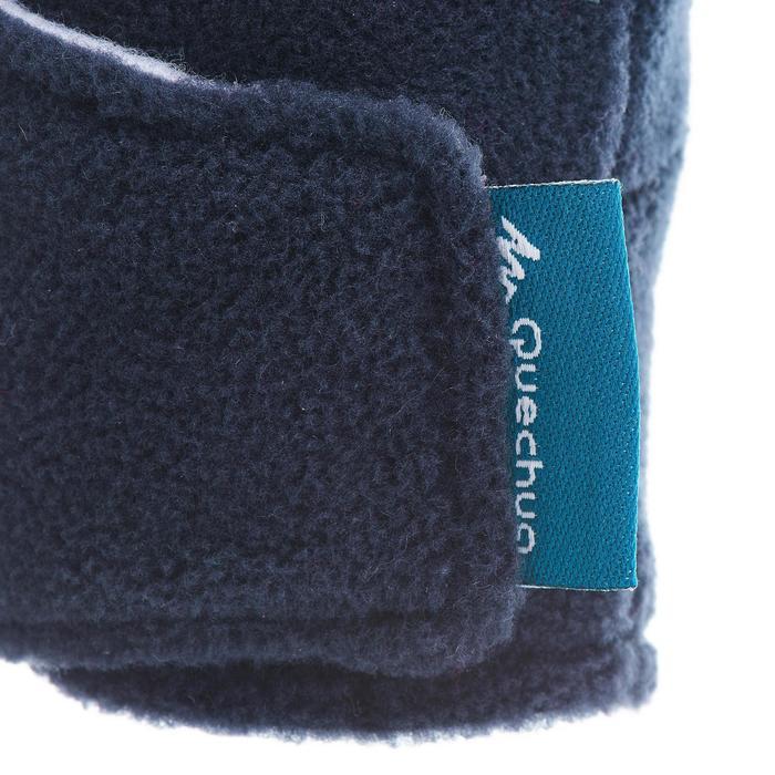 Fleece kinderwanten voor wandelen SH100 warm blauw