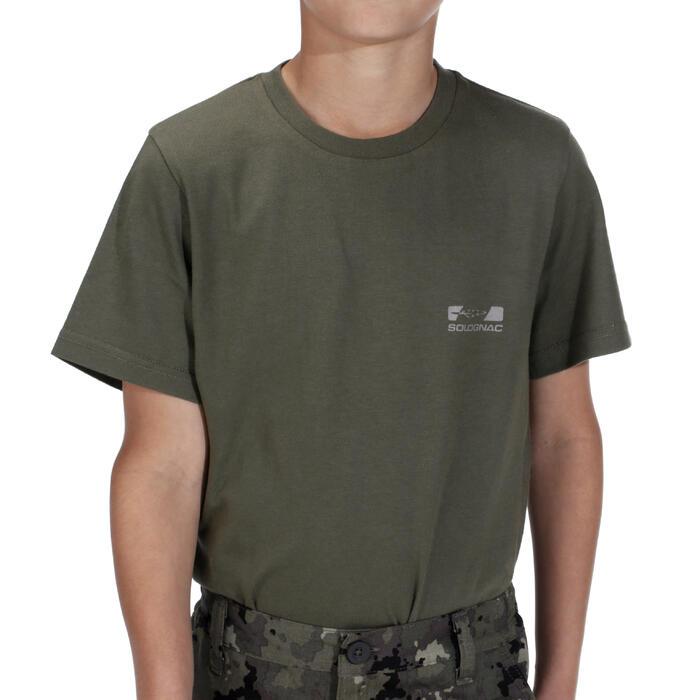 T-SHIRT chasse 100 JUNIOR VERT - 1018267