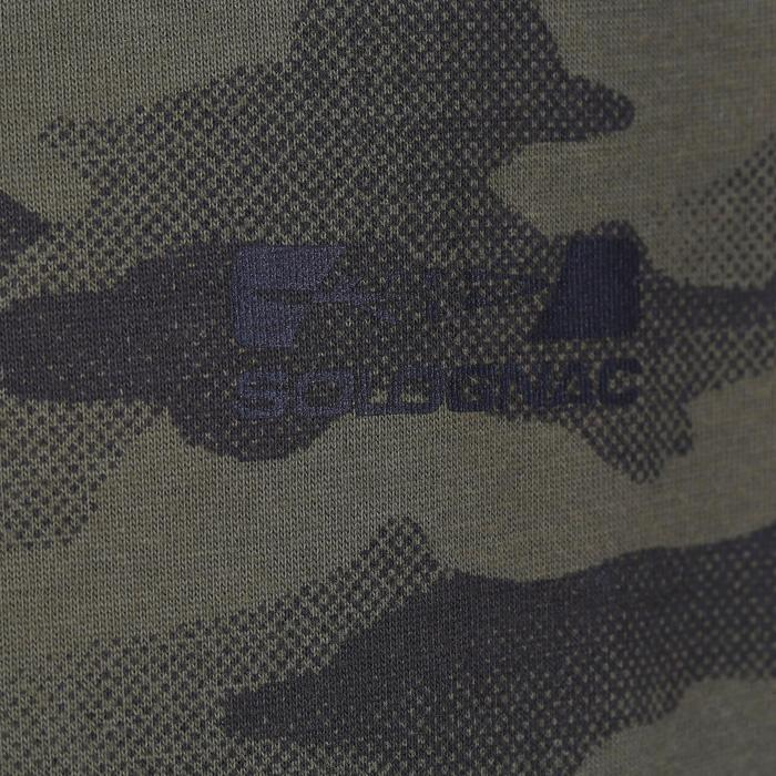 T-Shirt chasse Steppe 100 junior camouflage halftone vert