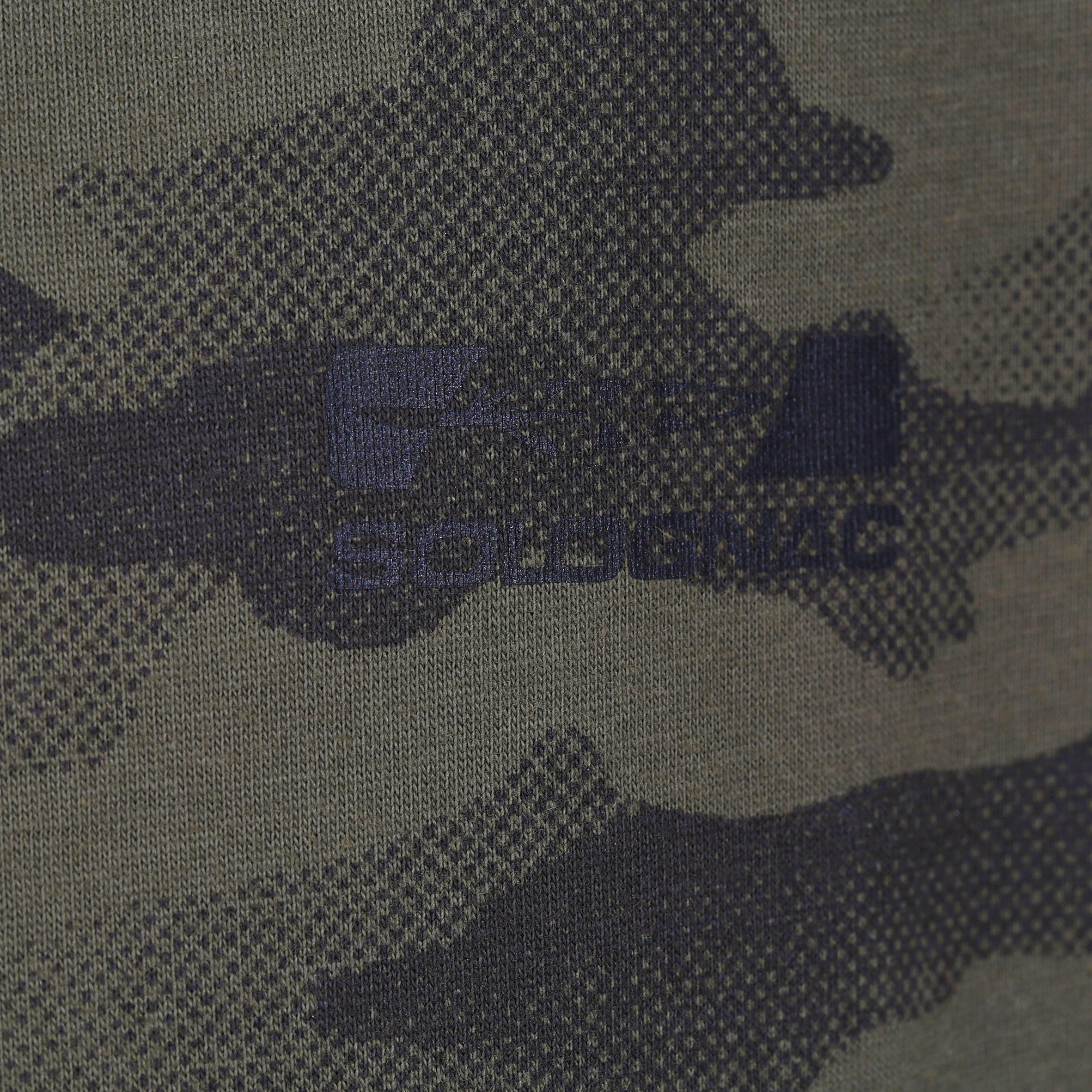 Tee-shirt de chasse Steppe 100 junior camouflage demi-teinte vert