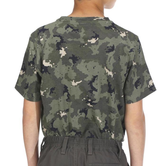 兒童款狩獵短袖T恤100-迷彩色/島嶼款
