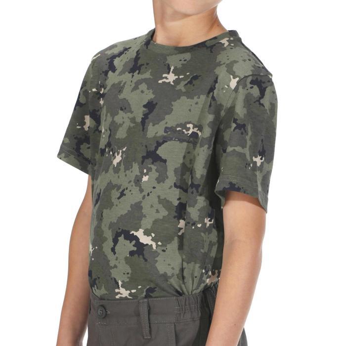 Jagd-T-Shirt 100 Kurzarm Kinder Camouflage Island