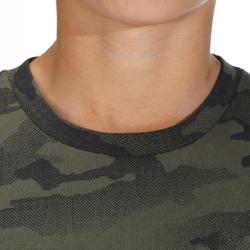Kinder T-shirt Steppe 100 voor de jacht camouflage halftone groen
