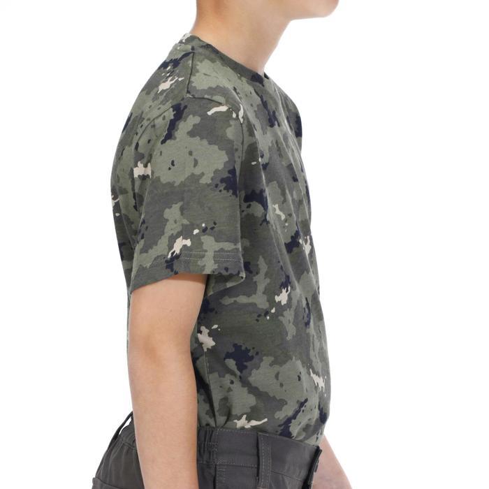 Kids Short-Sleeved Hunting T-Shirt 100 Island Camouflage