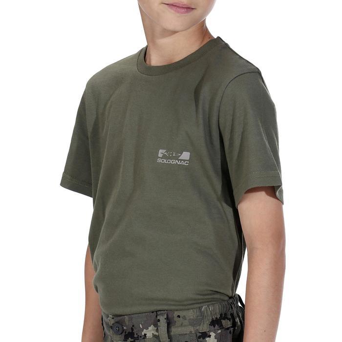 T-SHIRT chasse 100 JUNIOR VERT