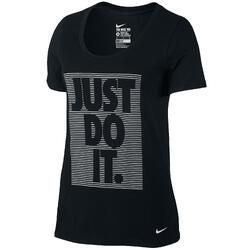 Fitness T-shirt voor dames zwart