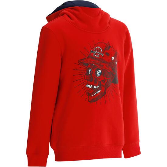 Skate hoodie mid voor kinderen, Skull - 1018538