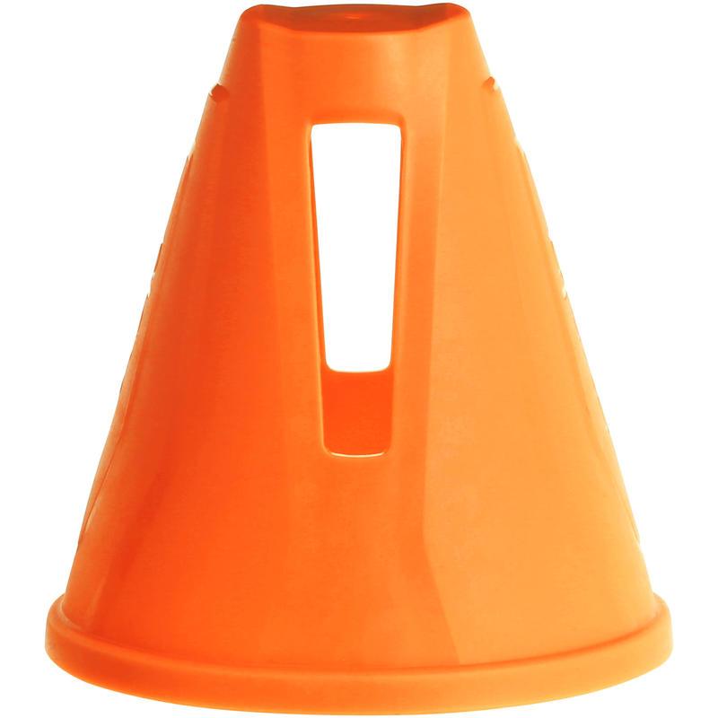 ชุดกรวยสลาลมสำหรับอินไลน์สเก็ต 10 ชิ้น (สีส้ม)