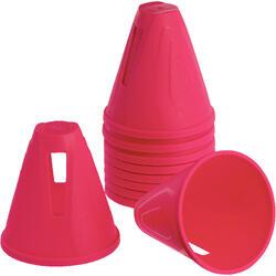Cones de Slalom para Patins Rosa (Conjunto de 10)