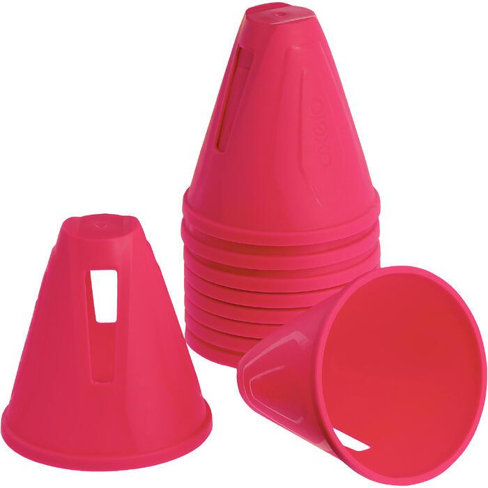 Lot 10 cônes roller slalom - 1018562