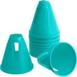 Cones de Slalom para Patins Azul (Conjunto de 10)
