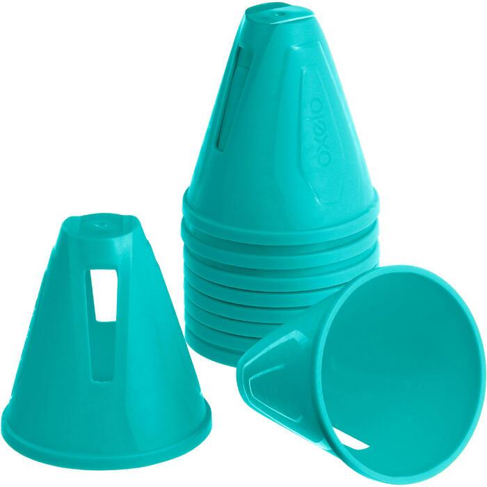 Lot 10 cônes roller slalom - 1018563