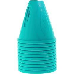 Lot 10 cônes roller slalom bleu