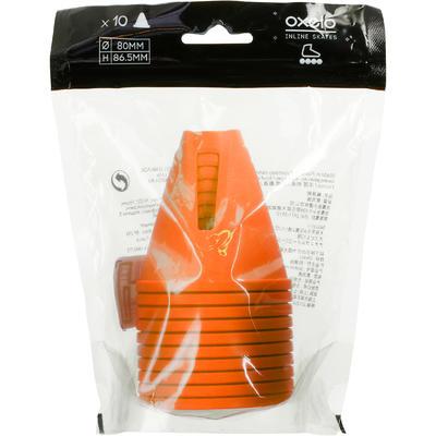 Lot 10 cônes roller slalom orange